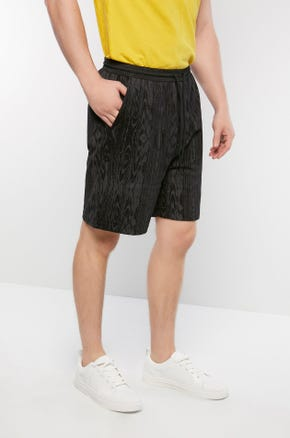 Wood Grain Sweat Shorts