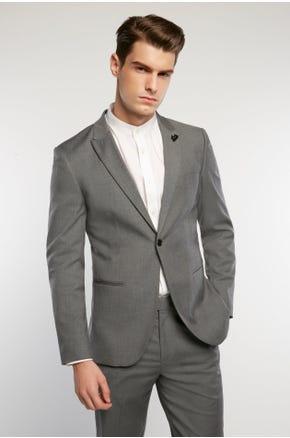 Grey Single Button Blazer