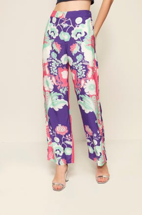 Printed High Waist Pants