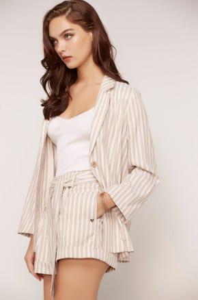 Striped Two Button Blazer