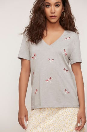 Sequin Dragonfly Tee