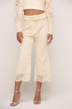 Lace Kick Flare Pants