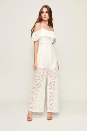White Lace Jumpsuit