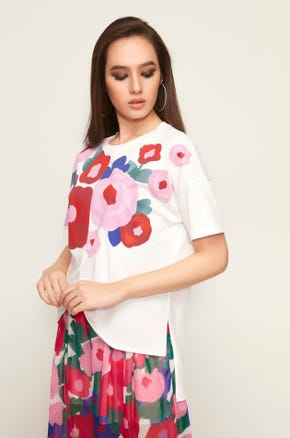 Floral Knot Front Tee