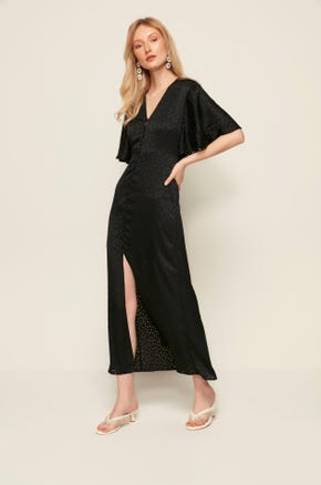 Front Slit Midi Dress