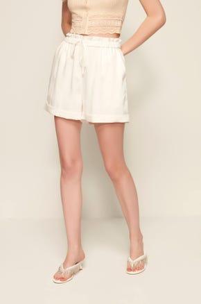 Drawstring Paperbag Shorts