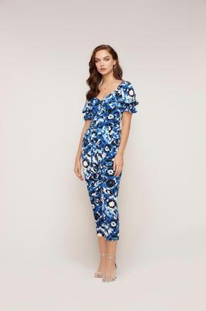 Floral Print Cropped Jumpsuit