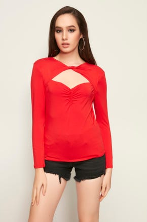 Twisted Cut Out Tee