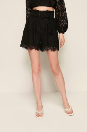 Belted Lace Shorts