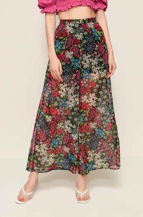 Sheer Floral Pants
