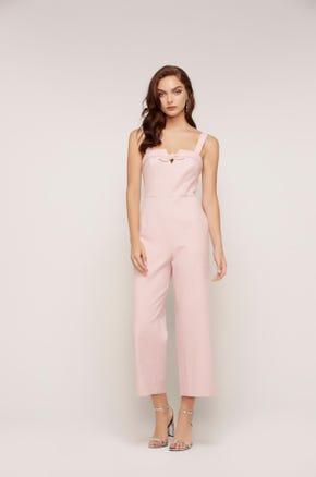 Pink Crop Jumpsuit