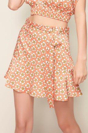 Retro Floral Mini Skirt