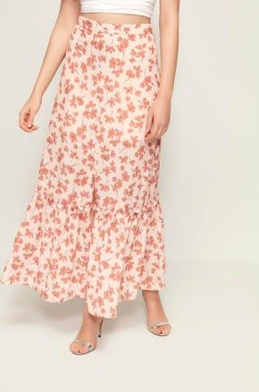 High Waist Floral Maxi Skirt