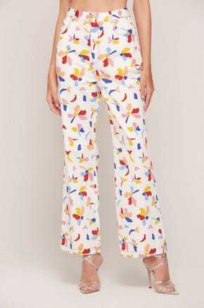 Graphic Flare Pants