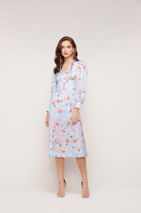 Floral Corset Milkmaid Dress