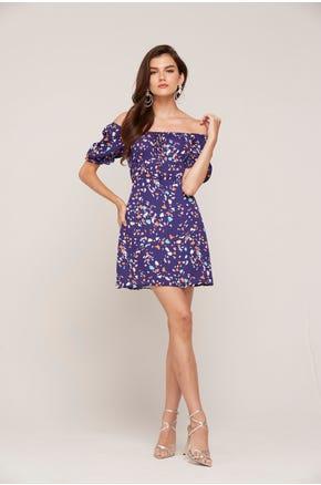 Purple Milkmaid Dress