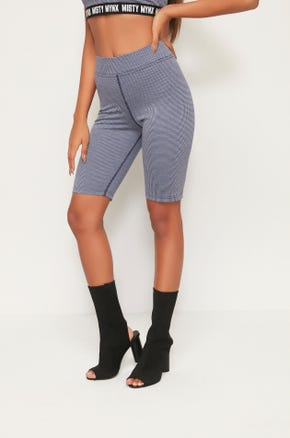 Houndstooth Biker Shorts