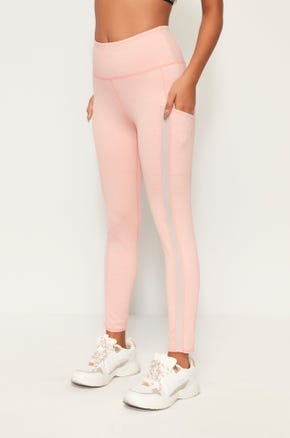High Waist Leggings - Pink