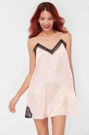 Lace Trim Cami Mini Dress