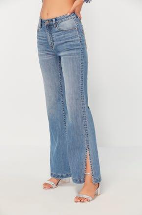 Ankle Slit Jeans