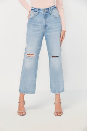Distress Cropped Jeans