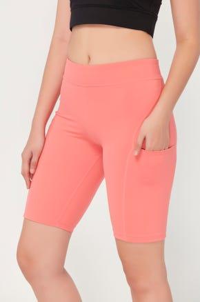 Side Pocket Biker Shorts
