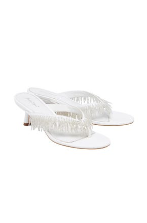 Crystal Fringe Sandals
