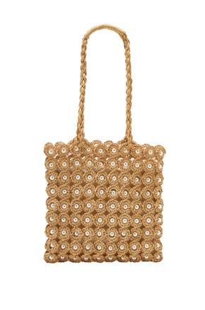 Pearl Straw Tote Bag