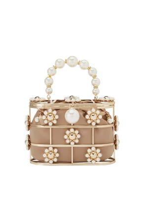 Pearl Frame Crossbody Bag